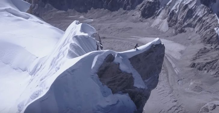 David Lama climbing in Nepal