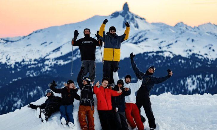 University Of British Columbia students at Whistler-Blackcomb