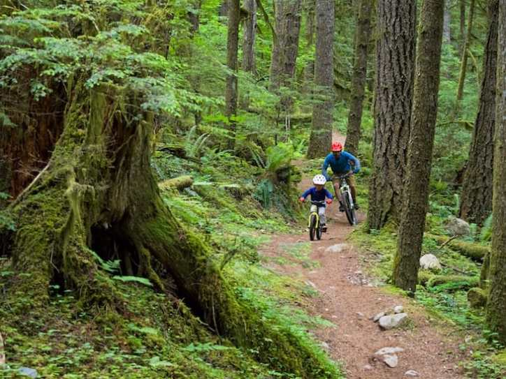 Arlo (front) and Jeff Norman, Squamish. Photo: Chris Christie