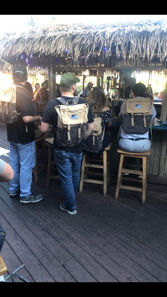 Employees in Idaho with their MTN Backpacks