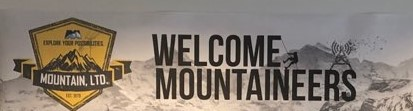 Welcome MOUNTAINeers Banner