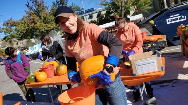 Crystal Polk Cleaning Pumpkins