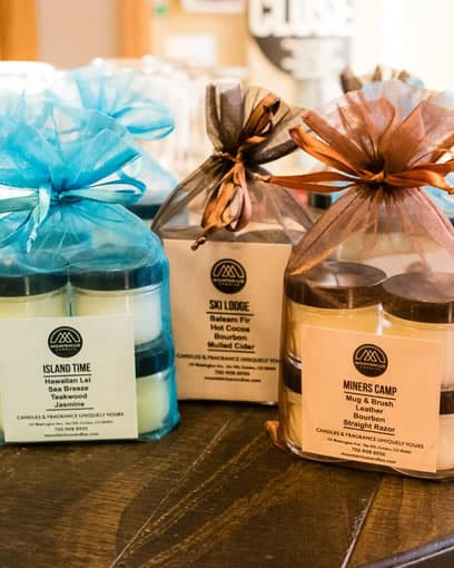 4 pack of pre-scented candles