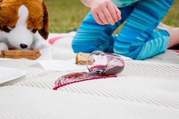grape juice spilled on Mountain Mat