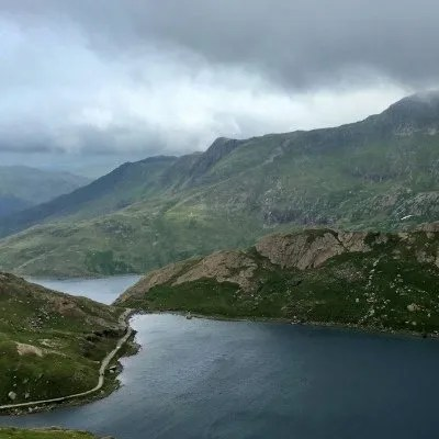view from top of mount snowdon