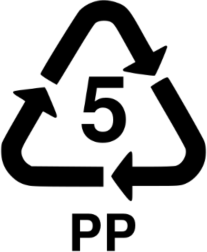 number 5 recycle symbol