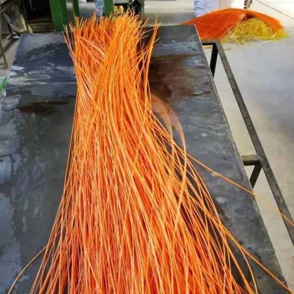 orange polypropylene straws
