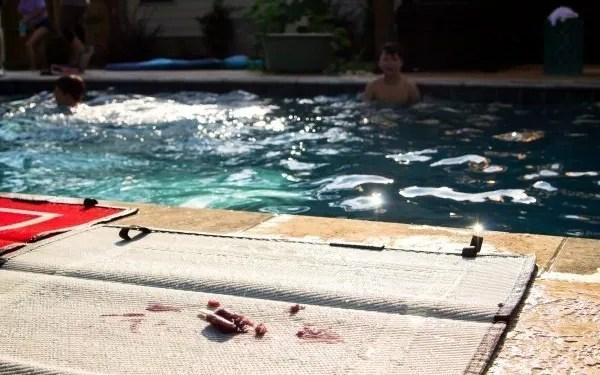 waterproof outdoor mat by pool