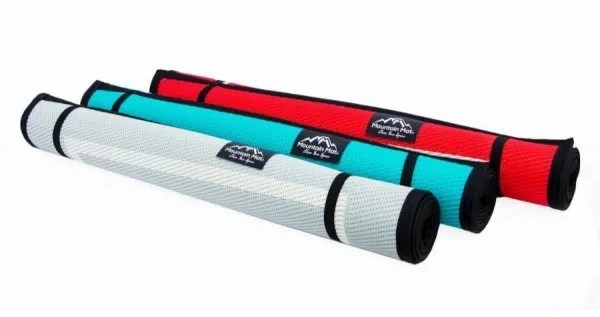 three camping mats size 3x6 rolled up