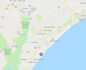 map location of ocean lakes family campground