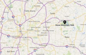 map of stone mountain
