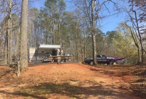 campsite at twin lakes campground sc