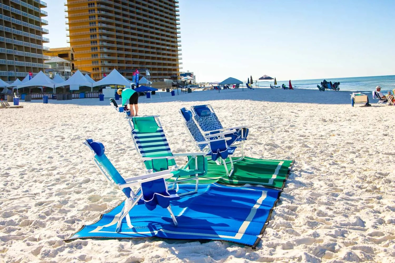 Mountain Mat green and blue waterproof beach blankets