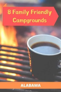 Pin for family friendly campgrounds in Alabama