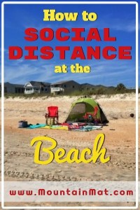 Pinterest Pin -- social distancing at the beach