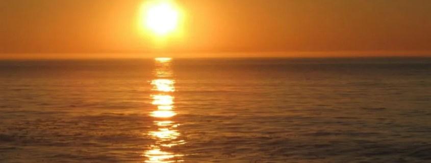 ocean at sunset