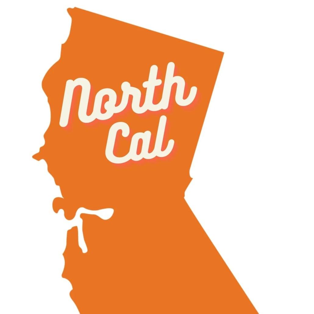 North California in orange