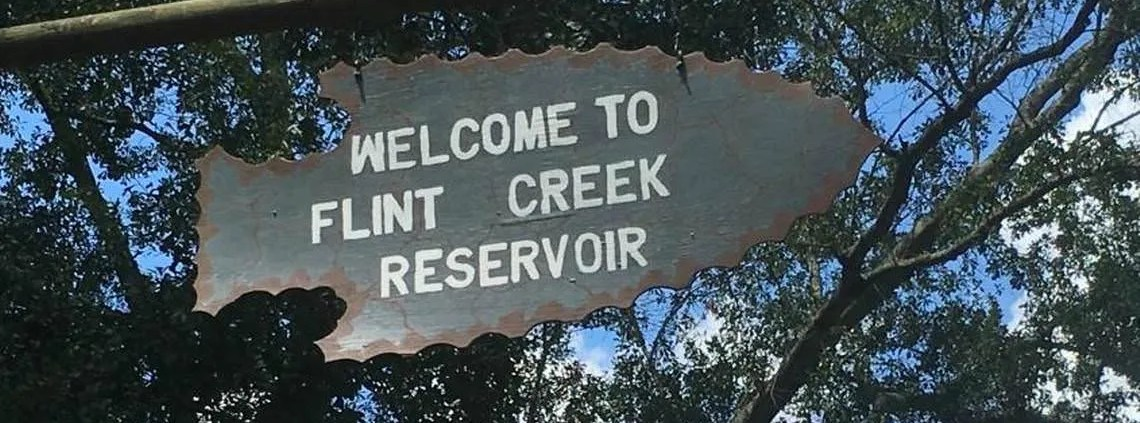 flint creek campground sign