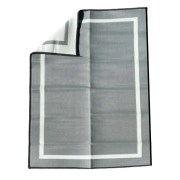 gray 5x7 Mountain Mat recycled plastic outdoor rug