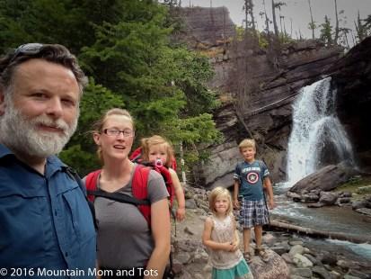 Mountain Family at Glacier