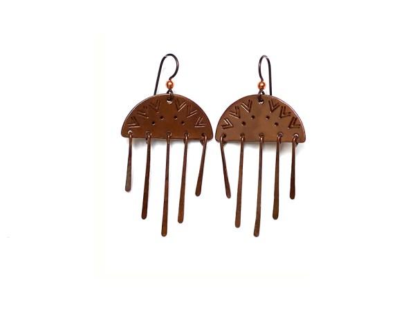 Dawn Dangles Copper Earrings