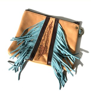 Feather Fringe Clutch