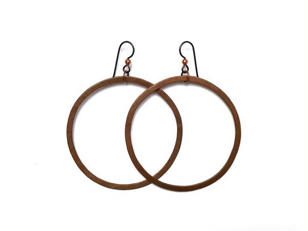 Large Copper Hoop Earrings
