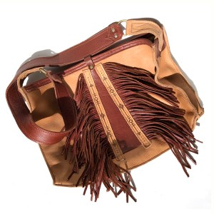 Burnt Sienna Fringe Purse