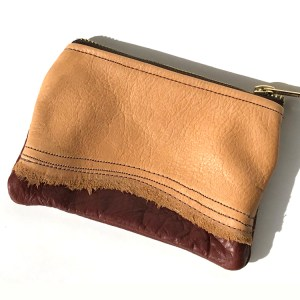 Southwestern Zippered Leather Pouch