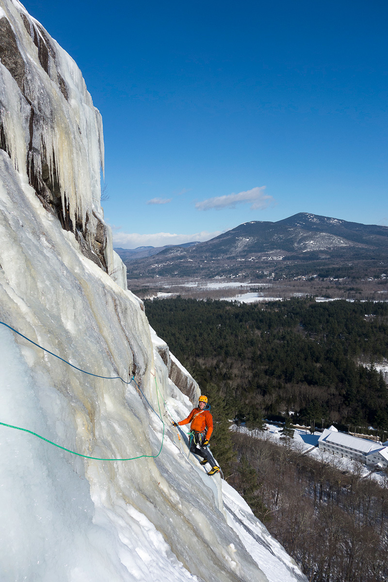 Ice Climbing on Whitehorse Ledge