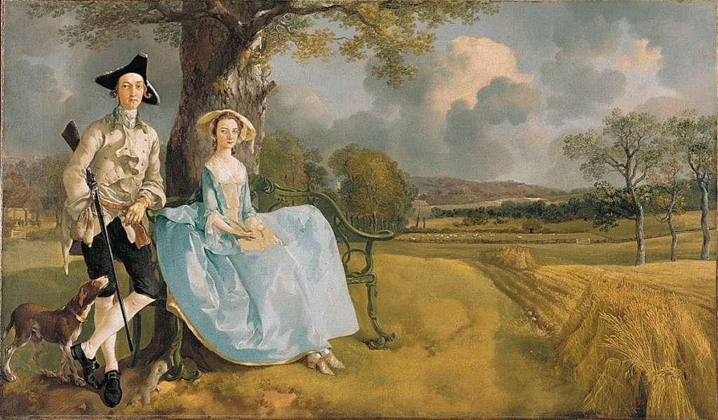 Risultati immagini per Thomas Gainsborough | Mr and Mrs Andrews | NG6301 | National Gallery, London