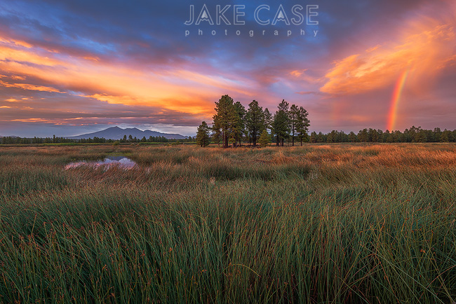 Kachina Wetlands Flagstaff Rainbow Sunset