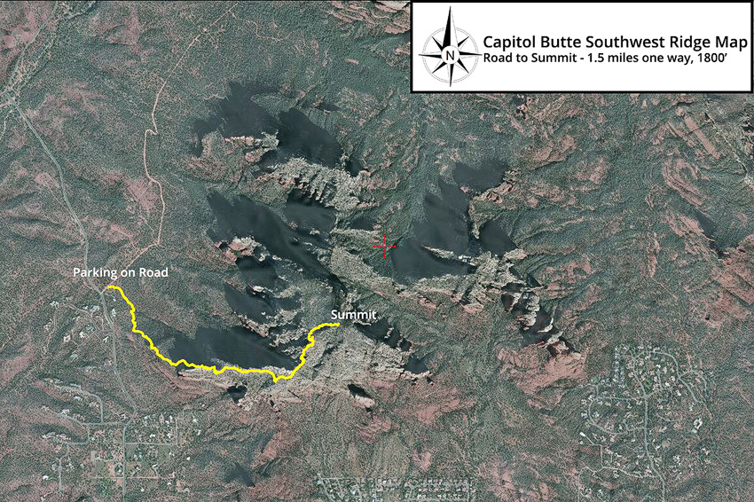 Capitol Butte Hike Map
