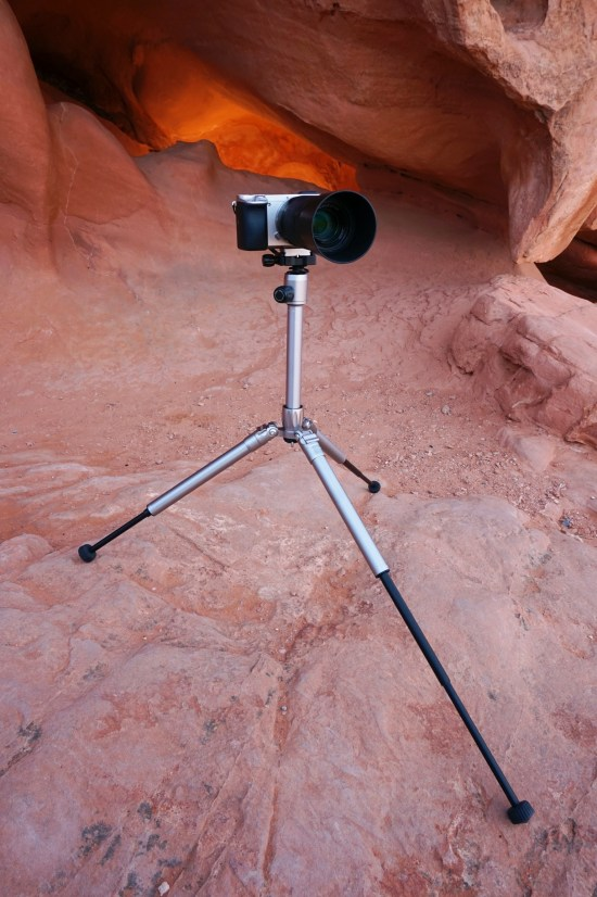 mefoto tripod camera mounted