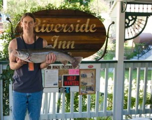 Massive German Brown Trout caught in North Yuba River- July 2009