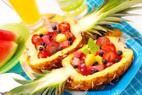 Fruit Salad Pineapple Bowls