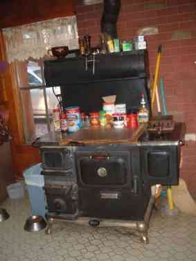 The wood burning cook stove