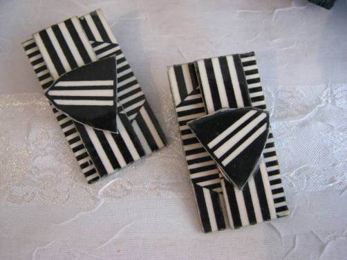 MeetTheArtistpair of Papier Mache earrings by Gayle Bower