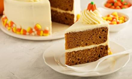 Pumpkin Spice Cake with Cream Cheese Frosting