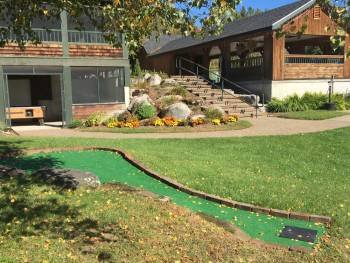 Mini golf at campground in Morrisville VT