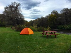campground with river