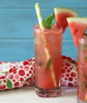 Skinny Watermelon Mojito from Peanut Butter and Peppers featured on Mountain View Lane blog Friday Favorites