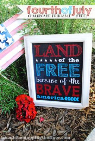 Fourth of July free printables detailed by Home Accessories featured on Mountain View Lane blog
