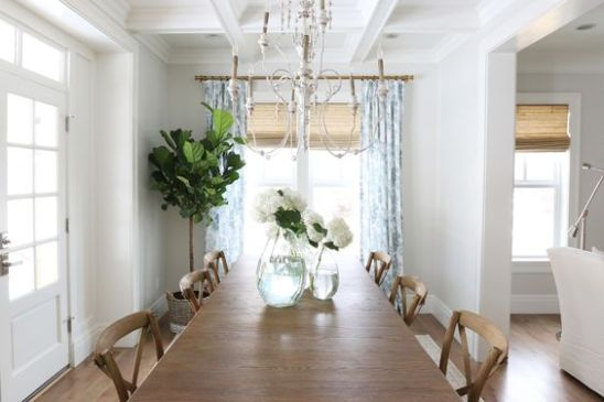 Benjamin Moore's Simply White Trim in Dining Room from Studio McGee|featured on Mountain View Lane blog