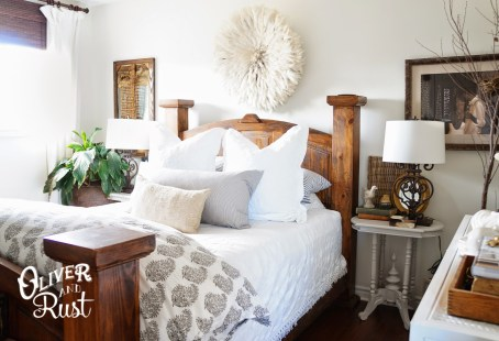 Oliver and Rust bedroom in Benjamin Moore Simply White|featured on Mountain View Lane blog