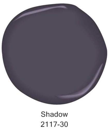 Benjamin Moore 2017 Color of the Year Shadow | Today show | featured at Mountain View Lane blog