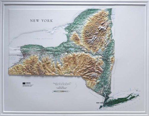 Raised Relief Map  New York Books   Maps   The Mountain Wanderer Raised Relief Map  New York