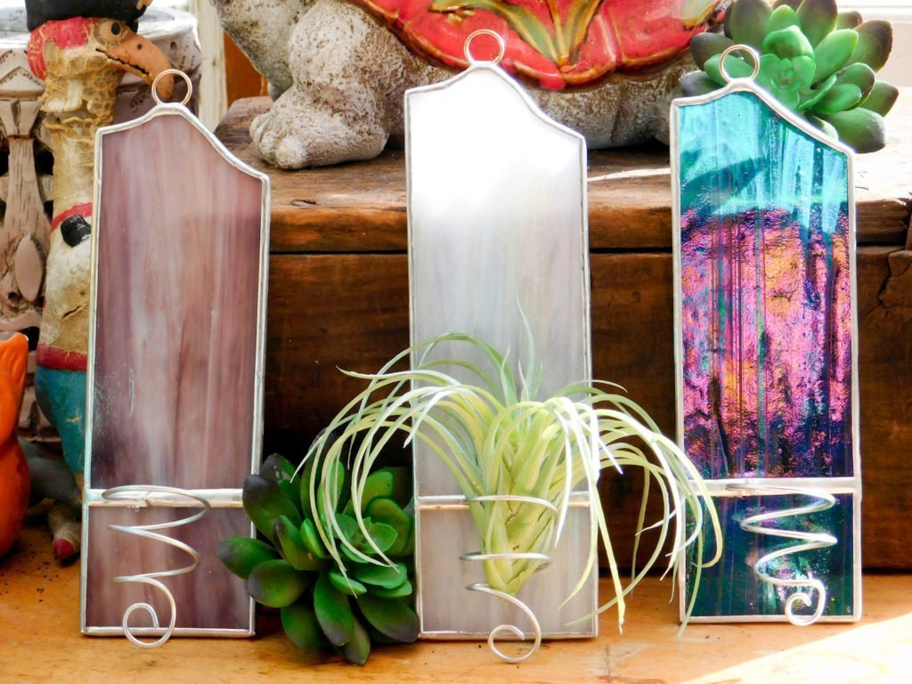 Air Plant Holder Stained Glass