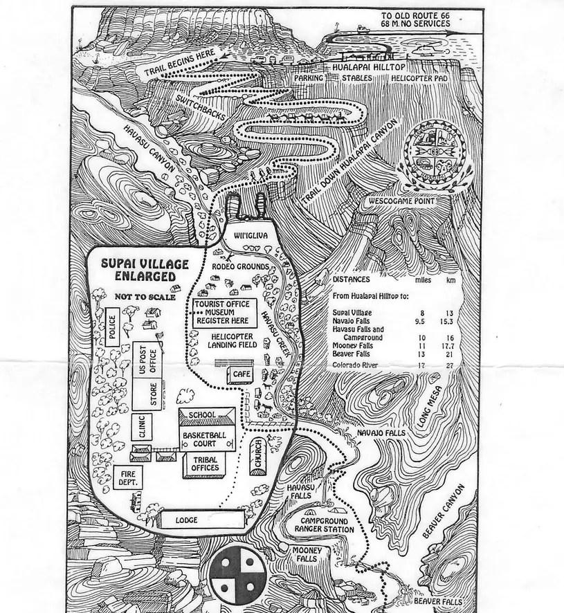 """Résultat de recherche d'images pour """"havasupai hike map"""""""