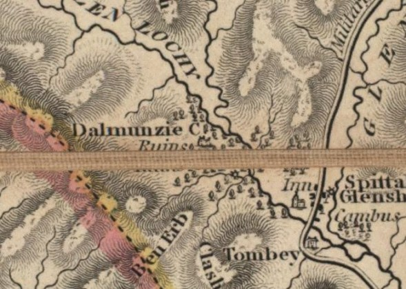 John Knox map 1850   Spittal of Glenshee and Dalmunzie Area   Mount     John Knox map 1850